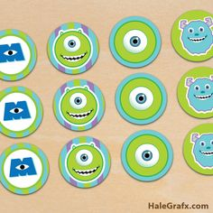 monsters-inc-cupcake-toppers