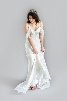 Brautkleid im Boho-Look, Fließender Rock, Seide und Spitze, Wedding Dress, in Boho-Look, Lace and Silk, Bridal gown of Felicita