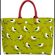Shop here- $1 of every $5 goes to our charity! Snowy Bird Green Carryall Tote