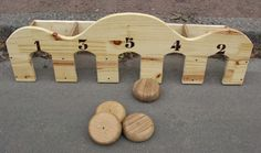 Trou Madame Woodworking Projects That Sell, Woodworking Crafts, Fun Projects, Wood Projects, Wooden Toy Kitchen, Playground Games, Outdoor Games For Kids, Carnival Themes, Traditional Games