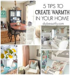 These 5 tips will help you achieve warmth and an inviting atmosphere in your home!  |  DIY beautify