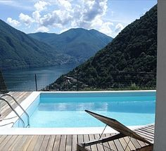 Villa pool in Lake Como. Isn't that where George Clooney hangs out??