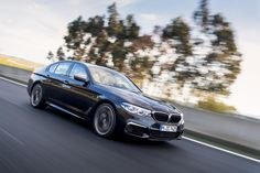 2018 BMW xDrive is a perfect sleeper - looks almost like an ordinary but under the hood there is powerful twin-turbo Supercars, Bmw I, Detroit Auto Show, 2017 Bmw, Car Posters, Poster Poster, Bmw 5 Series, Sports Sedan, Gas Pumps