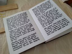 Inside my commonplace book, calligraphy script is insular minuscule