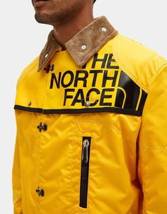 65ecae5ef34 Duffle bag coat from Junya Watanabe MAN in collaboration with The North  Face in Yellow.