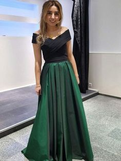 Elegant Prom Dresses, Dark Green and Black Long Formal Dresses,Evening Gowns, Formal Dresses, Off Shoulder Party Dresses Sweater Dresses UK Green Evening Dress, Sexy Evening Dress, Evening Dresses Plus Size, Long Evening Gowns, Formal Evening Dresses, Evening Party, Dress Formal, Dark Green Prom Dresses, Elegant Prom Dresses