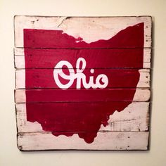 Script Ohio Sign / State of Ohio Sign by PalletsandPaint on Etsy