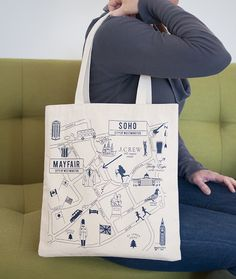 Custom J.Crew London Maptote for their store openings across the pond!