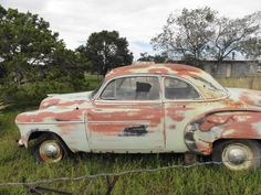 Pietown,NM. rusty car