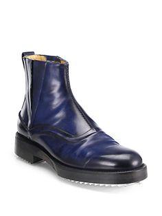 Fendi Leather Chelsea Boots   Footwear