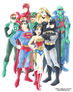 Justice League Drawings.... Amazingly Epic(: