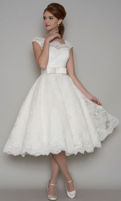 One of favourite gowns at the moment! Gorgeous neckline and lovely full skirt from LouLou Bridal