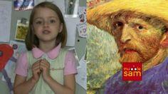 ART FOR KIDS - 6 Year Old Sophia Interviews VINCENT VAN GOGH on Mugglesam, via YouTube.