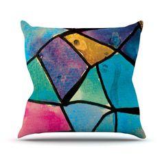 Stain Glass 2 Throw Pillow