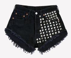 902 Studded Black Vintage Levis Shorts