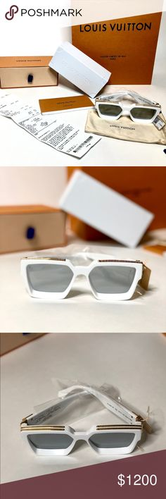 731bfb0312b  BRAND NEW  Louis Vuitton Millionaire Sunglasses 100% Authentic white Louis  Vuitton 1.1 Millionaire