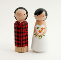 lumberjack cake topper - K!  This would be cute for you, they are cute like you and steve