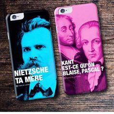 Coques smartphones également disponibles sur tshirt-corner.com !  #smartphone #desfistsetdeslettres #coque #jeudemots #litterature #nietzsche #kant
