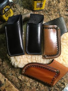 Buck 110, Leather Working, Leather