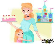 Como seriam as princesas da Disney ao se tornarem mães5