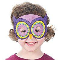 Lot de 8 Masques Chouettes à colorier - Idéal pour la période de Carnaval: Amazon.fr: Jeux et Jouets