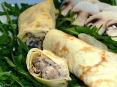 Recette Entrée : Crêpes champignons-poulet par Corinneq