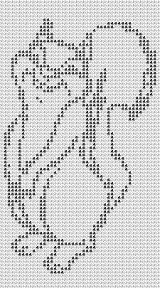 New Free Elephant Filet Crochet Afghan Pattern available © Tina Gibbons Graph Crochet, Filet Crochet Charts, Crochet Cross, Knitting Charts, Thread Crochet, Crochet Motif, Crochet Doilies, Knit Crochet, Flower Crochet