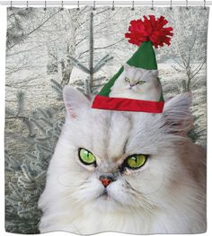 Check out my new product https://www.rageon.com/products/christmas-cat-shower-curtain on RageOn!
