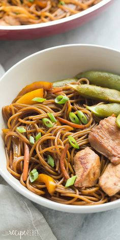 This easy, One Pot Teriyaki Chicken and Noodles is better than any ...