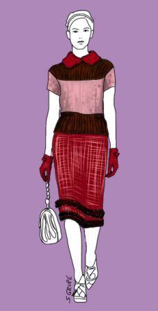 Neu im Bog der Modeflüsterin: Ein Beispiel zeigt, wie Sie mit dunklen, hellen und kräftigen Farben Ihre Figur schlank stylen können. In diesem Fall ist es die Farb-Trilogie aus Schoko-Braun, Rosé und Weinrot - ideal für den Sommer-Farbtyp!