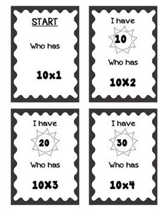 Freebie! Small group multiplication activity 10x