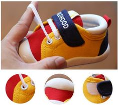 Spring Infant Toddler Shoes Girls Boys Casual Canvas Shoes Soft Bottom Comfortable Non-slip Kid Baby First Walkers Shoes