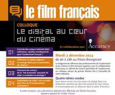 """Colloque Le film français : """"Le digital au cœur du cinéma"""""""