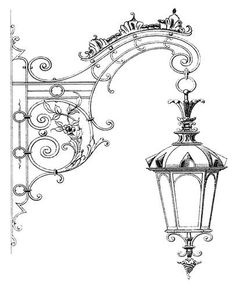 LaBlanche - Foam Mounted Silicone Stamp - Hanging Street Lamp: This stamp from LaBlanche is a high quality heat resistant silicone stamp on a thick foam . Kunstjournal Inspiration, Christmas Inspiration, Decoupage, Street Lamp, Art Drawings Sketches, Colouring Pages, Doodle Art, Line Art, Watercolor Art