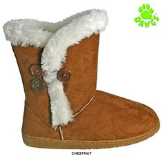 Dawgs Women's Shelley 3-Button Memory Foam Boots - Assorted Colors