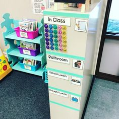 I made this last year to maximize classroom space and have an easy way to take attendance and for students to check in/out throughout the…
