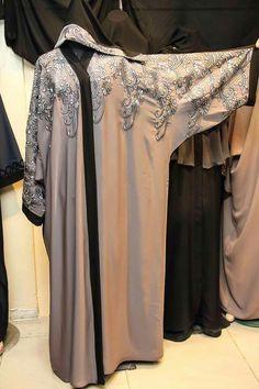 Greyish abaya