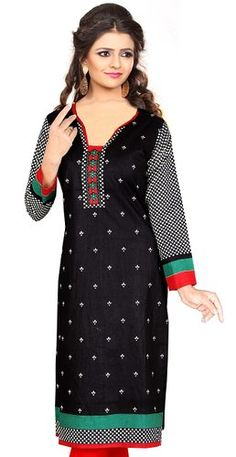 Women's Cotton Unstitched Kurti