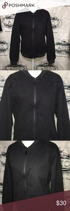 Canvas Bomber Jacket Size Medium Brand new with tags. Dark gray color. Jackets & Coats Bomber & Varsity