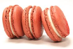 Red Velvet French Macarons by TC Paris:  Hints of cocoa in our red velvet shells, filled with our knockout REAL cream cheese filling.