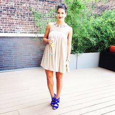 Dark lip and tan dress. Cute shoes www.liketk.it/nKwQ #liketkit