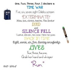 """clara oswald run you clever boy and remember 
