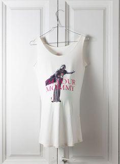 Camiseta embarazada I'M YOUR MOMMY tirantes blanca
