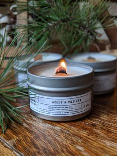 Holly and the Ivy Soy Candle with Wooden Wick