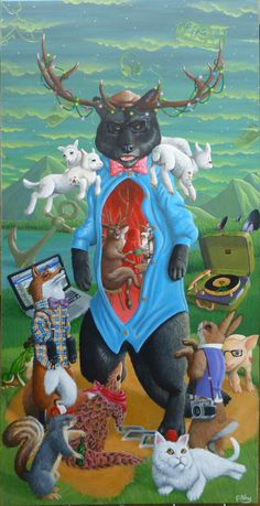 Pop surrealism, surrealism, lowbrow art, new contemporary art: Interview with pop surreal artist Filthy the Bear