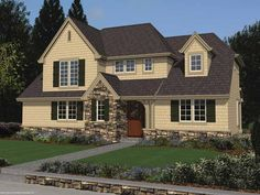 Cape Cod House Plan with 1882 Square Feet and 3 Bedrooms(s) from Dream Home Source | House Plan Code DHSW67365
