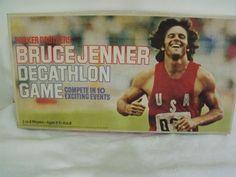 Vintage Bruce Jenner Decathlon Board Game. Parker Bros.No.176. Mfg.1979 RARE #ParkerBrothers