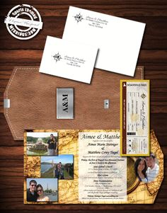 At SportsThemedWeddings.com, we enjoy a challenge.  This travel themed wedding was custom designed for one of our customers and includes everything you need to send out an incredibly creative invite - #travelthemed #stwdotcom