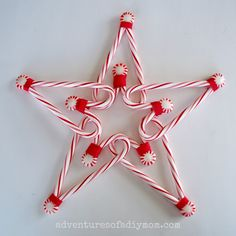 Candy Cane Star Tree Topper  Adventures of a DIY Mom