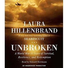Unbroken is a well written book about an incredibly strong man who is taken as a POW during WWII.  Great storytelling and great conversion.